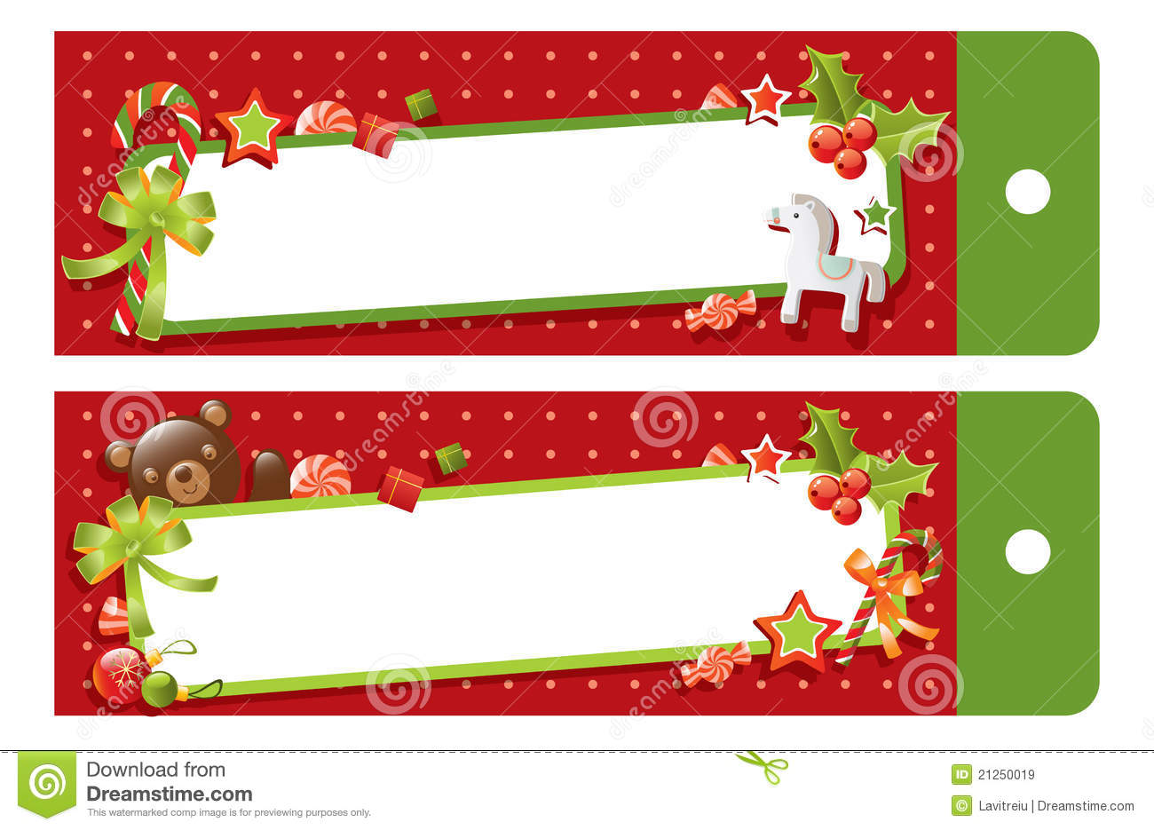 Christmas gift tag stock vector. Illustration of dots.