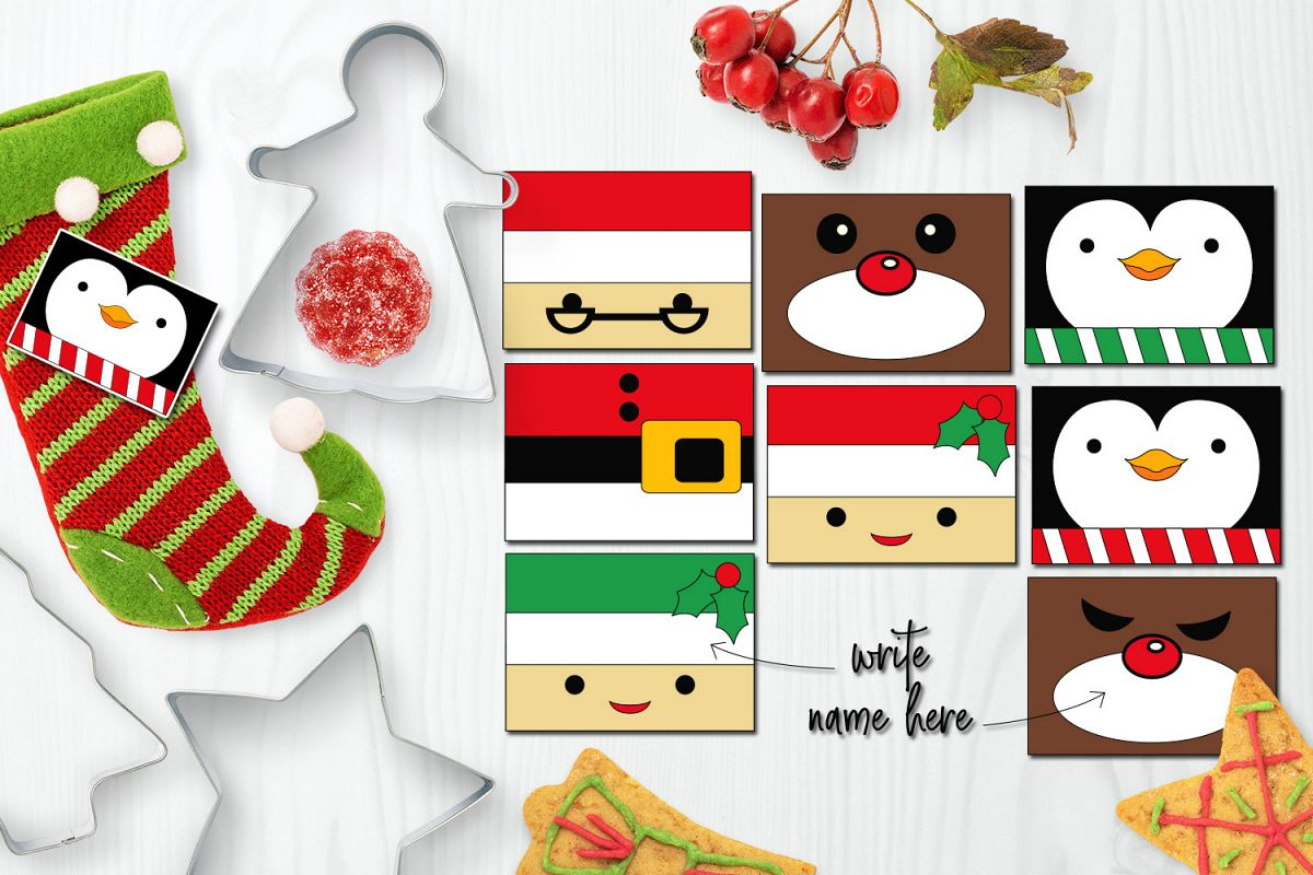Christmas Name Tags Clip art.