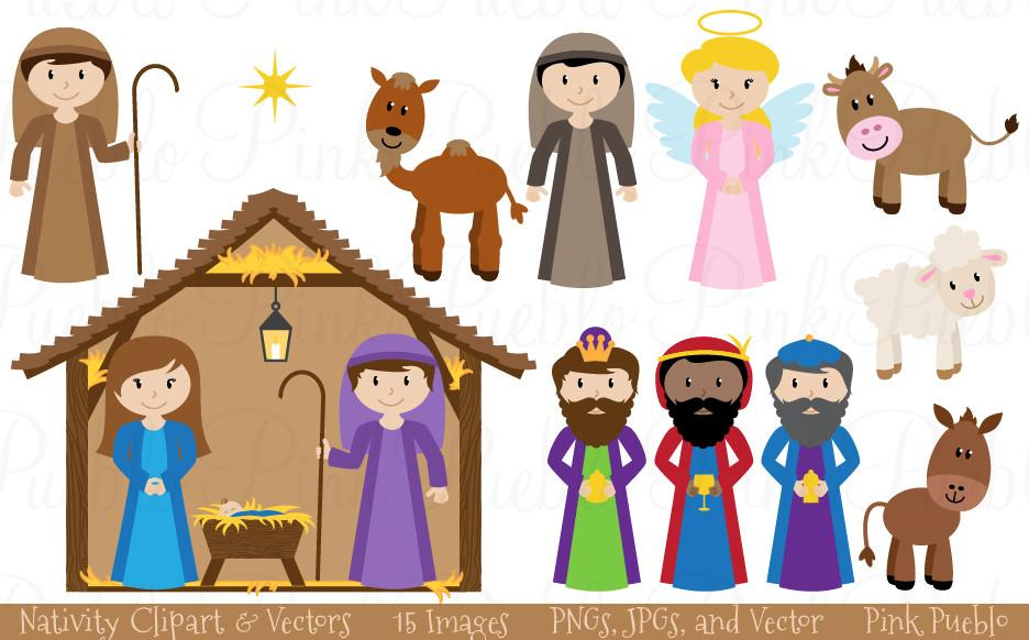Christmas Nativity Clipart & Vectors.