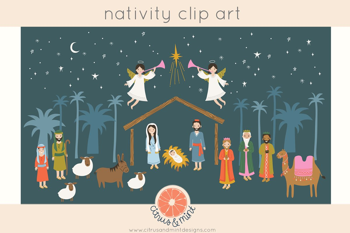 Christmas Nativity Clip Art.