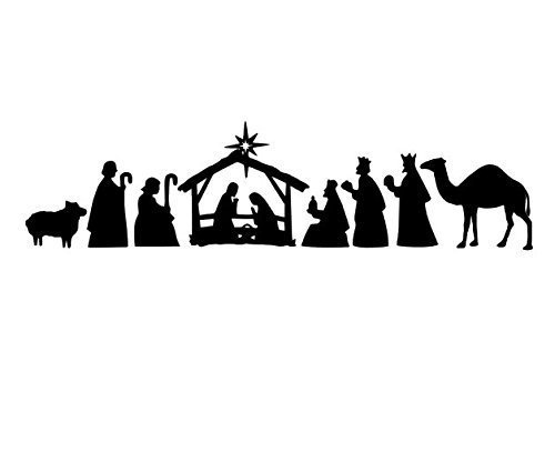 Vinyl Nativity Manger Scene, Vinyl Christmas Decoration, Vinyl Manger  Decal, Christmas Decal, Baby is Born, Christ is Born, Nativity Scene, Vinyl.