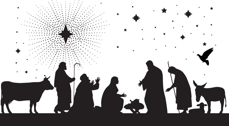 Free Nativity Clipart Black And White & Clip Art Images #18356.