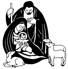 Image result for nativity pictures black and white.