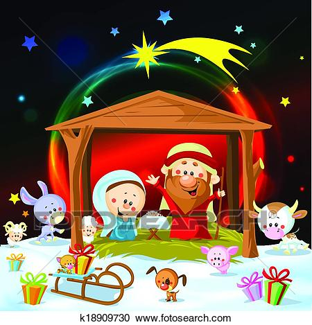 Christmas nativity Clipart.