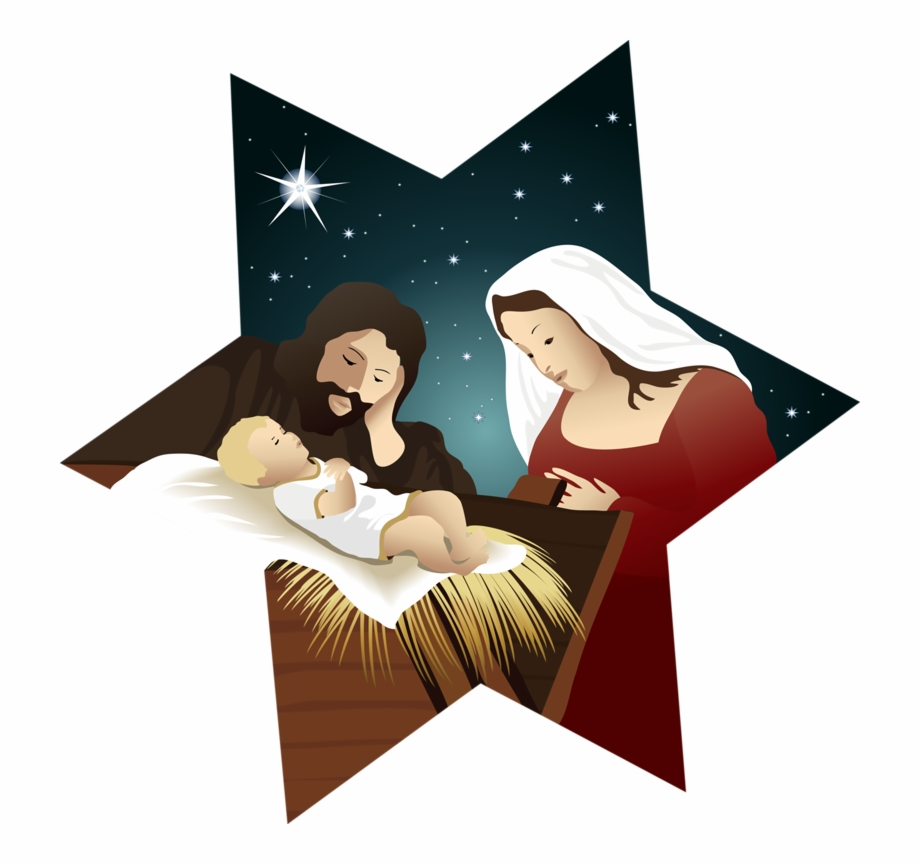 Christmas Nativity Star Clip Art.