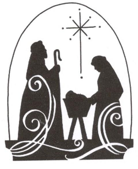 Nativity Clipart Black And White Free.