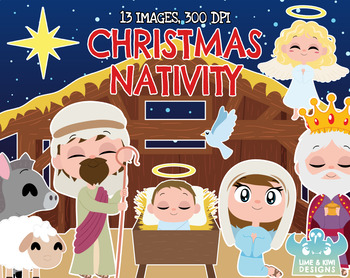 Christmas Nativity Clipart.