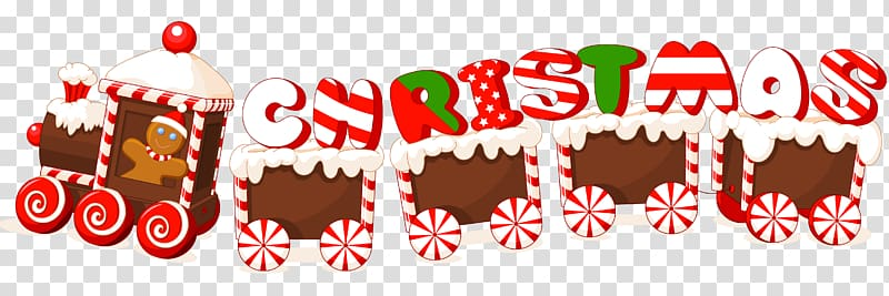Christmas New Year , Merry Christmas Candy Train Text Label.