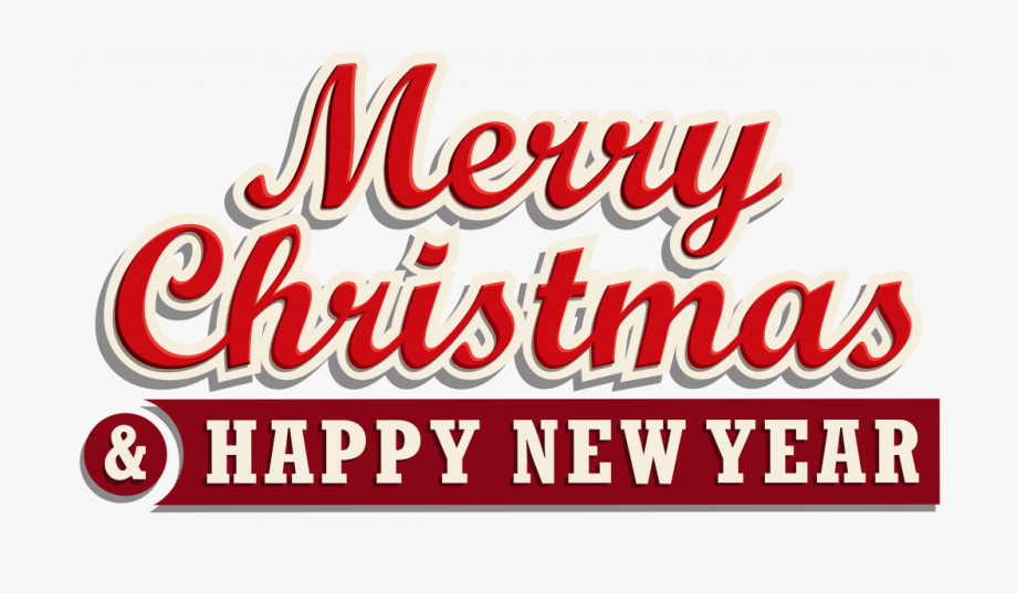Happy New Year Clipart Font.