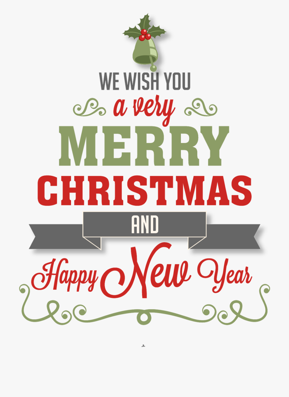 Happy New Year Clipart Merry Christmas.