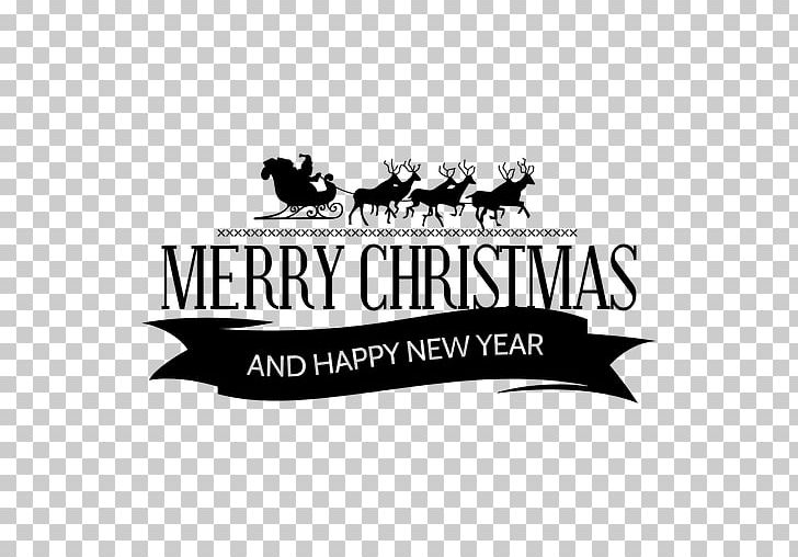 Santa Claus Reindeer Christmas New Year's Day PNG, Clipart, Black.