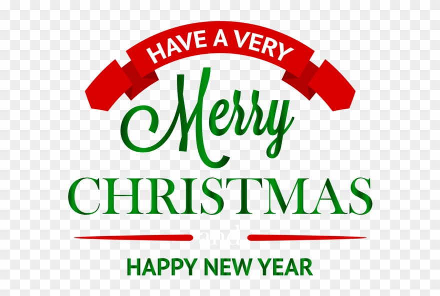 Merry Christmas Happy New Year Png Clipart (#471617).