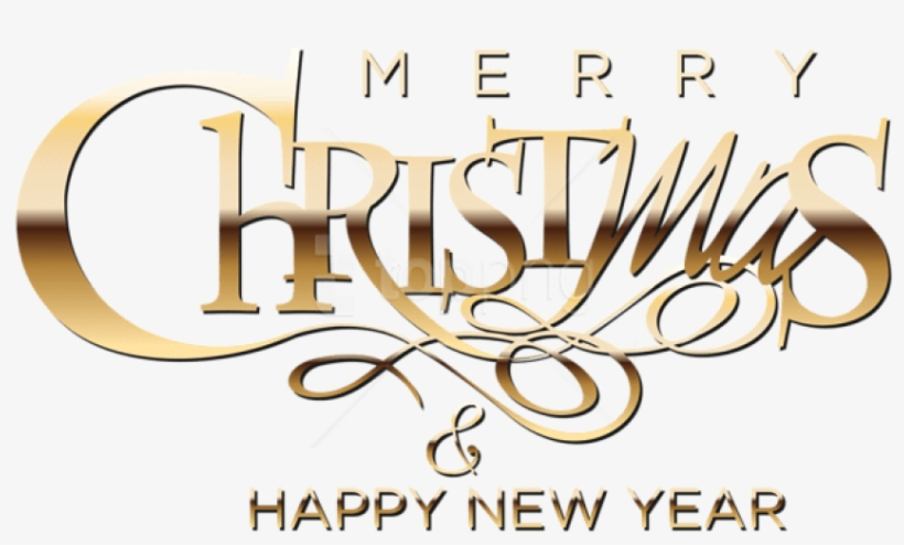 Free Png Merry Christmas And Happy New Year Png.
