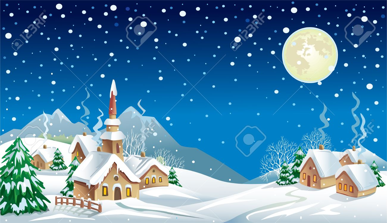 christmas night scene clipart 20 free Cliparts | Download ...