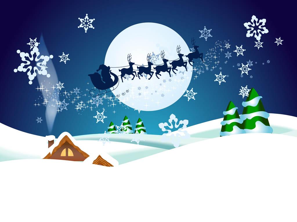 Christmas Night Vector Wallpaper Vector Art & Graphics.