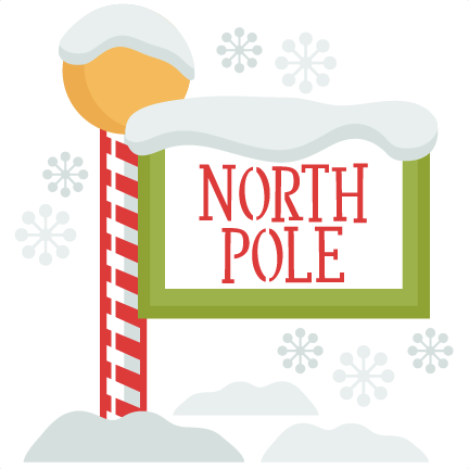 Christmas North Pole Sign SVG scrapbook cut file cute clipart files.