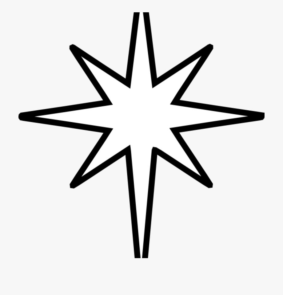 Christmas Star Clipart Christmas Star Clip Art Black.