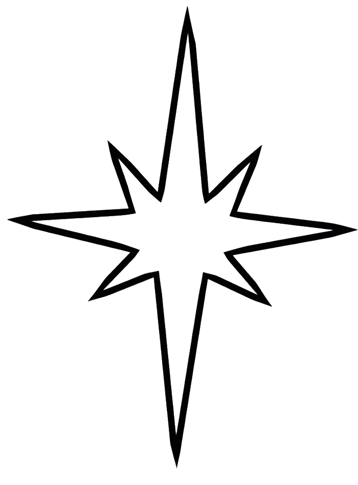 Free Christmas Star Coloring Page, Download Free Clip Art.