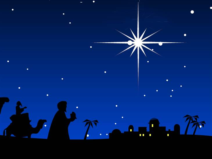868 Christmas Star free clipart.