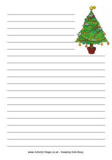 christmas note paper template.