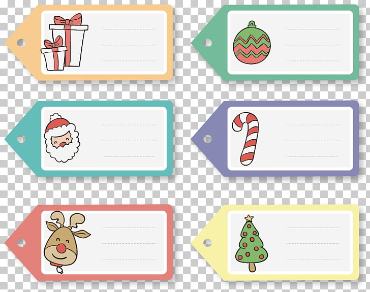 Paper Christmas gift Label, Notes material PNG clipart.