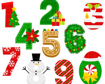 Christmas clip art number.