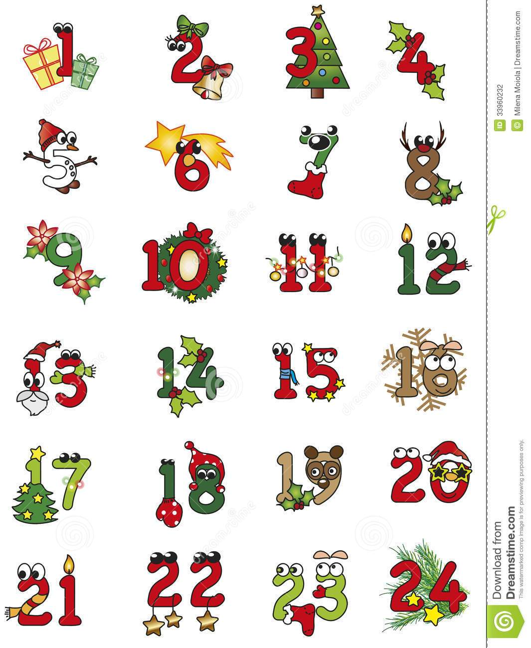 Christmas numbers clipart 6 » Clipart Portal.