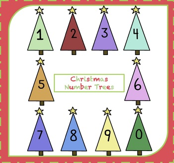 FREE Numbers Clipart / Christmas Number Trees Clipart {Number Clipart}.