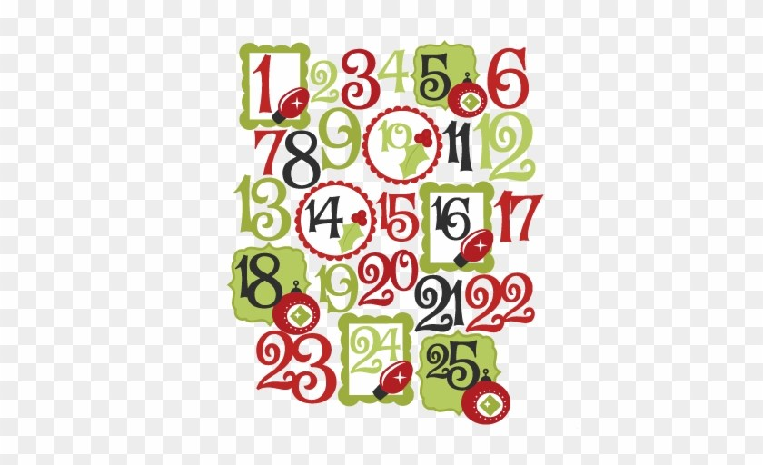 Christmas numbers clipart free » Clipart Portal.