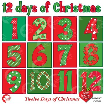 Christmas Numbers Clipart, 12 of Christmas Numbers Clipart, AMB.