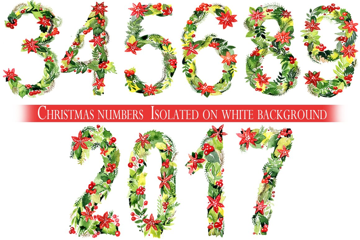 Christmas numbers.