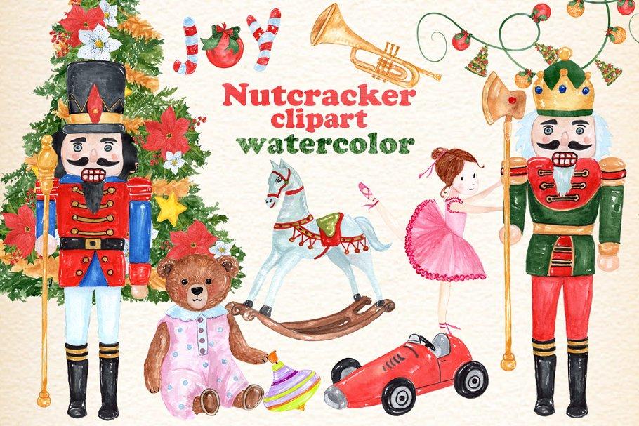 Christmas Nutcracker kids clipart.