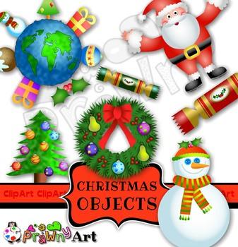 Christmas Holiday Clip Art Set.