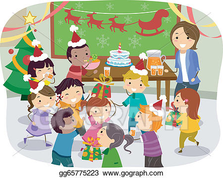 christmas party clipart.