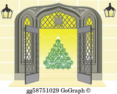 Christmas Open House Clip Art.