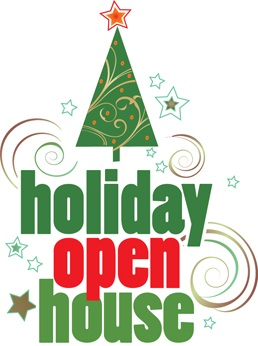 Christmas clip art open house.