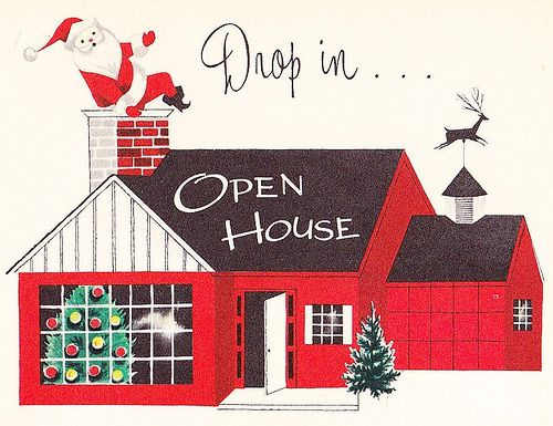 Christmas Open House Invite 1950s.