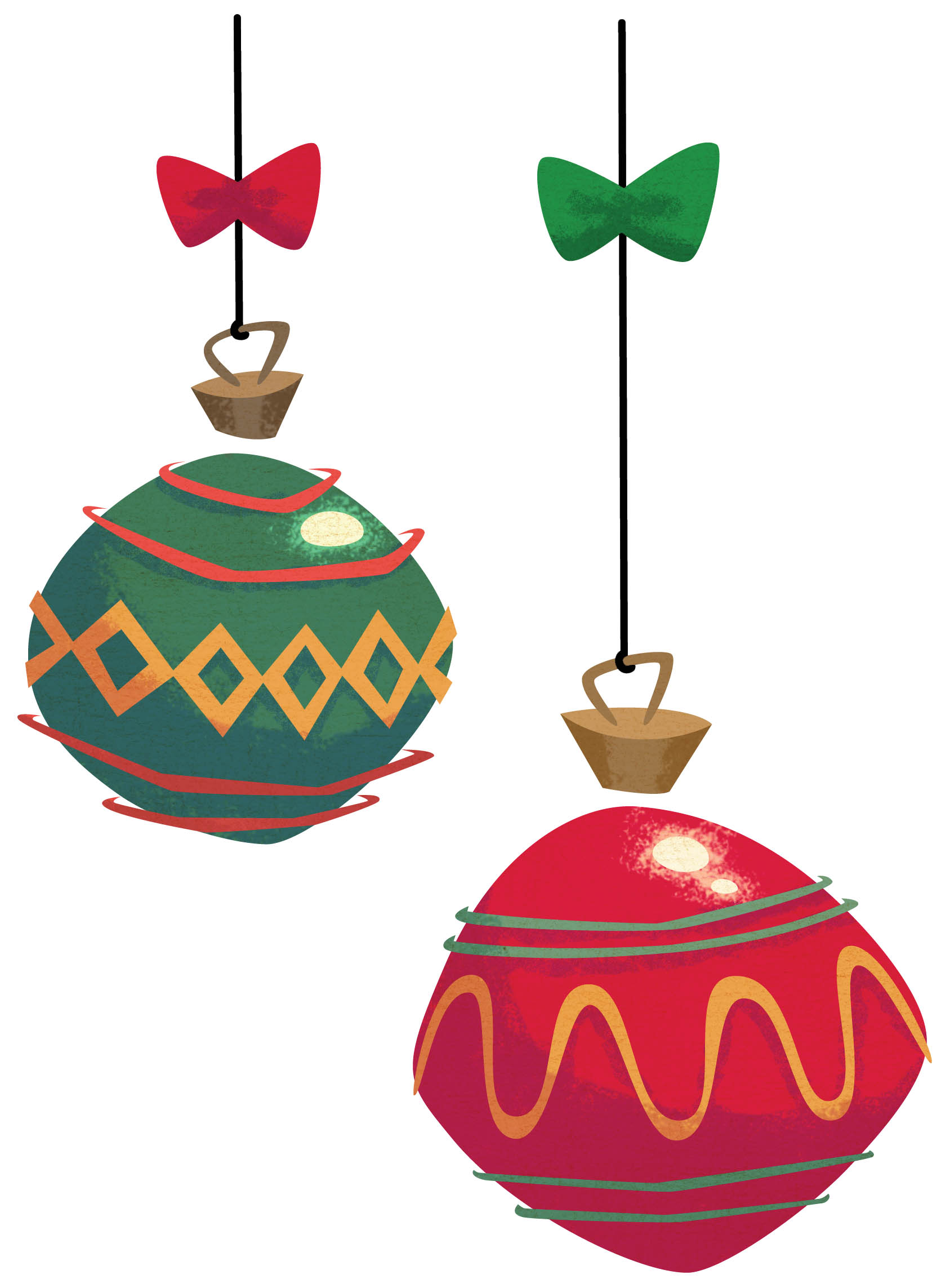Christmas Ornament Border Clipart.