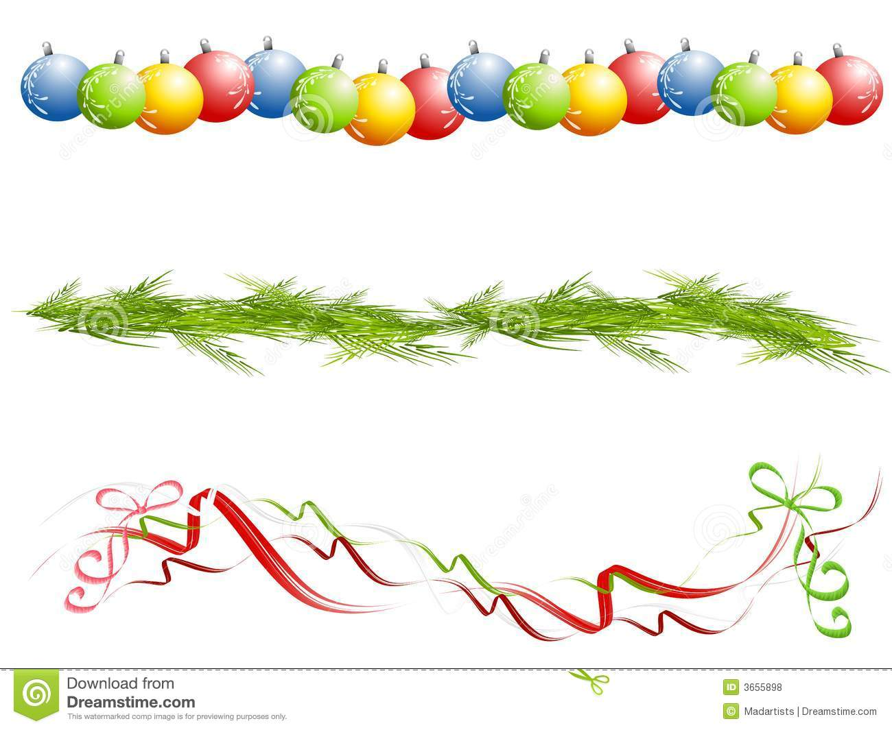 Christmas ornament border clipart free clipground