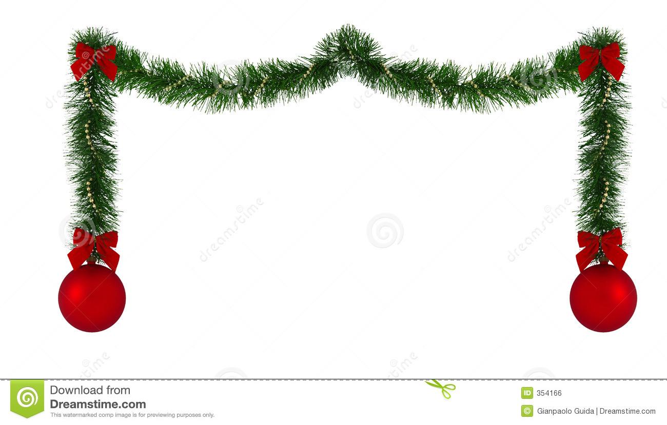 Christmas Ornaments Clipart Border.
