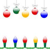 Christmas Ornament Border Clipart.