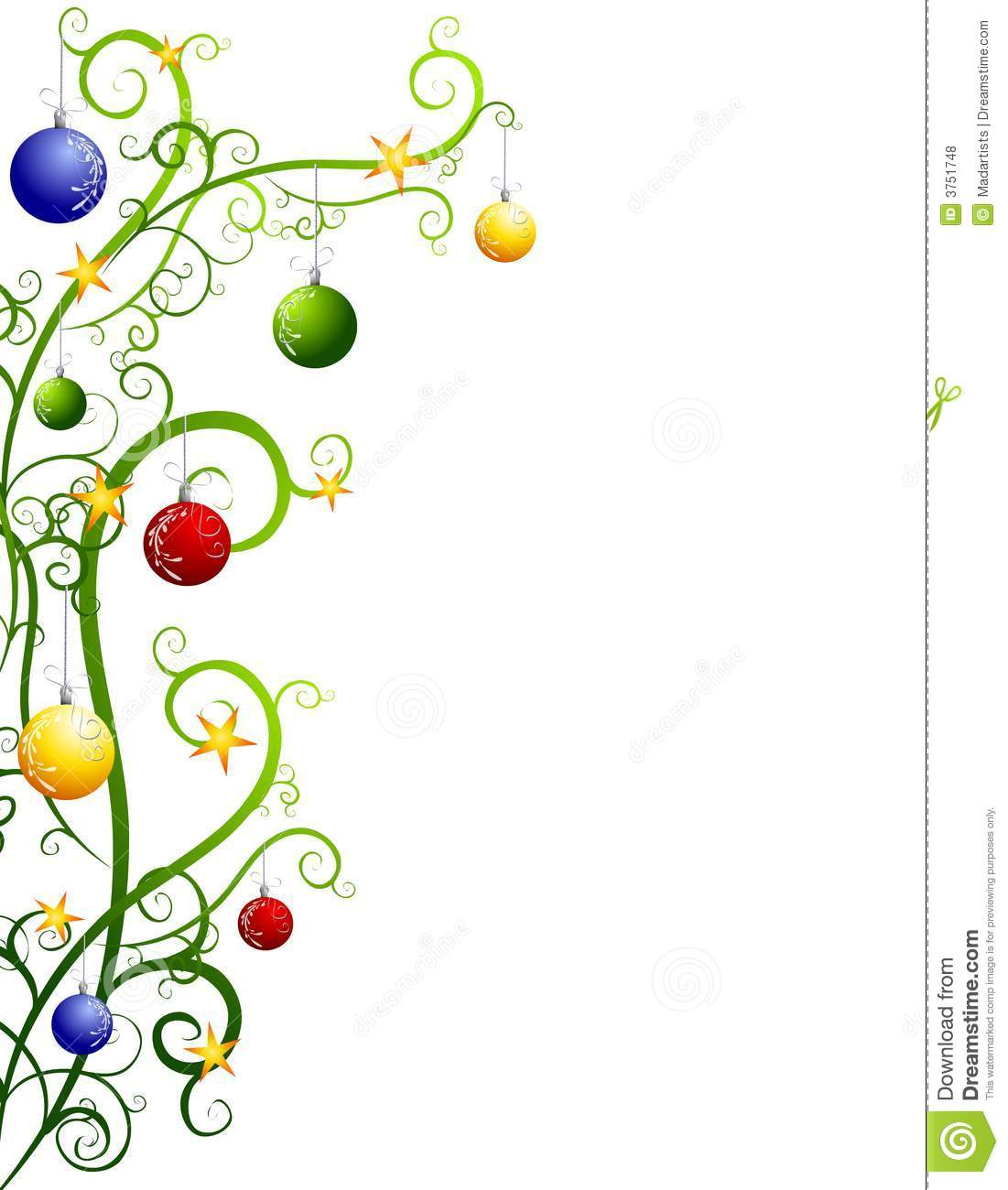 Christmas Ornaments Clipart Border Free.