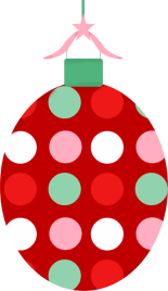 Red Christmas Ornament Clip Art.