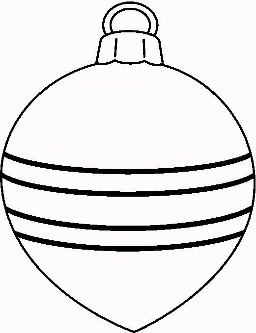 Christmas Ornaments Clipart Black And White.