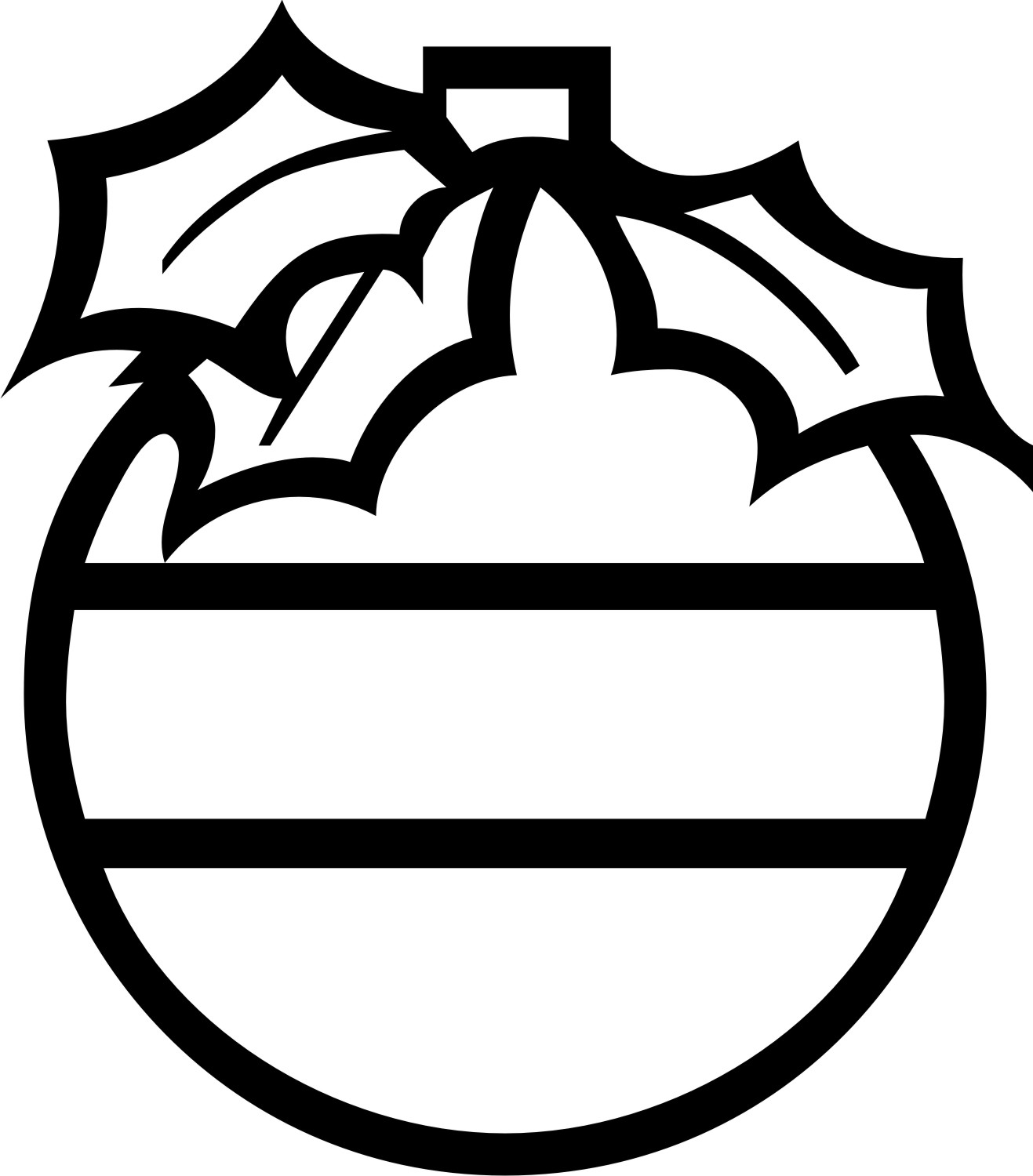 Christmas Ornament Clipart Black And White.