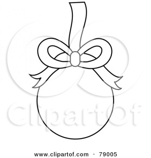 Christmas Ornament Clipart Black And White Free.