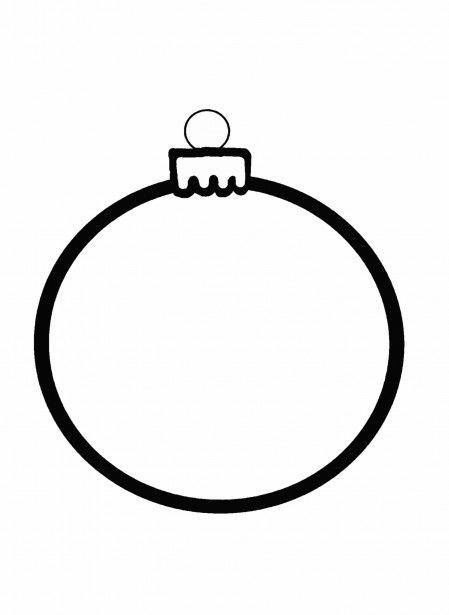 christmas ornament outline.