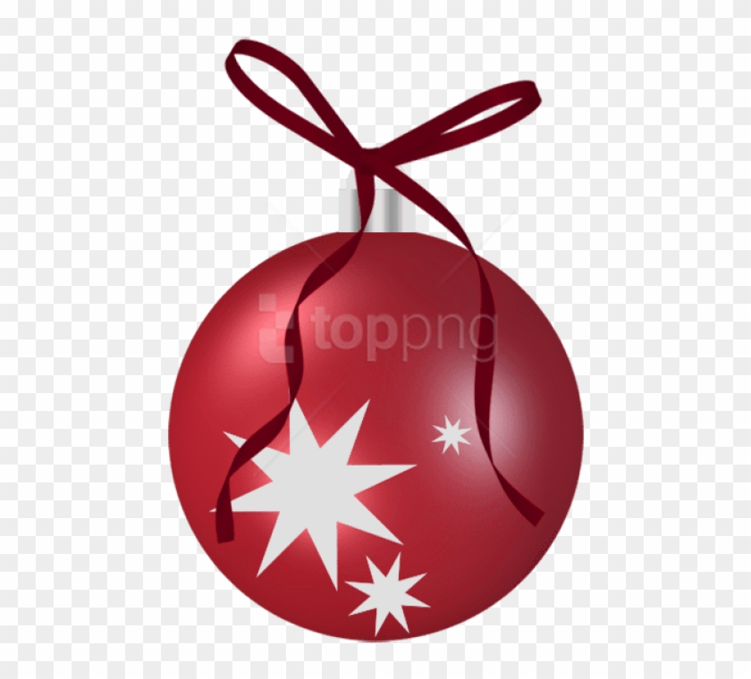 Free Png Transparent Christmas Red Ornament Png Images.