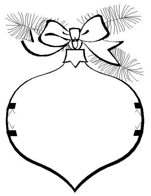 Christmas Ornament Clipart To Color.