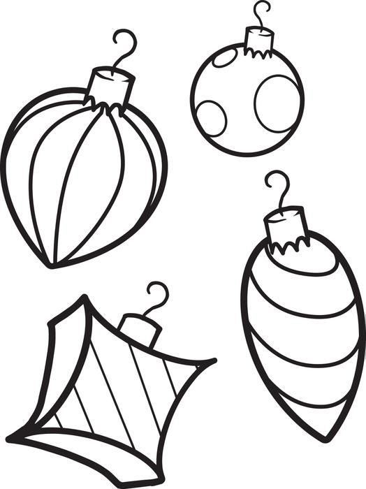 Coloring Pages Christmas Ornaments.